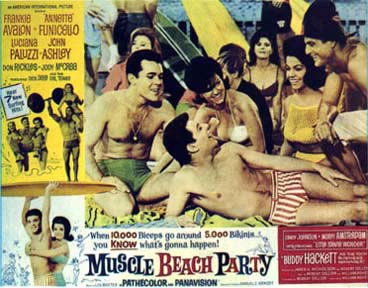 Muscle Beach Party lobby card